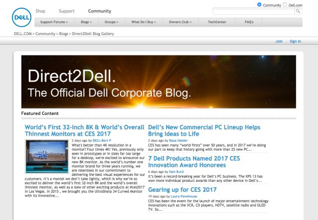 Direct2Dell Dell Corporate Blog