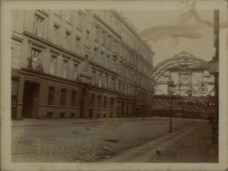 Istedgade 1911. Hovedbanegården under opførelse. Foto KB, Billedsamlingen