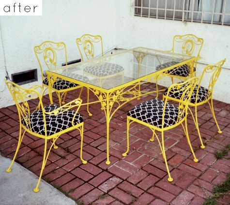 painted and reupholstered iron patio furniture - 1326 Best Vintage Wrought Iron Patio Furniture Images On Pinterest