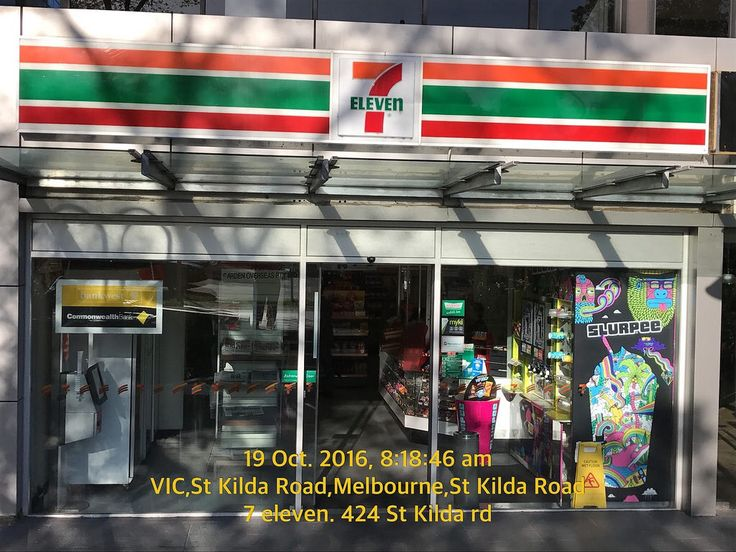 Cleaning sign by front window of 7 Eleven = $ losses 7-Eleven #Australia #Melbourne #signs #design #branding #marketing #boutiques