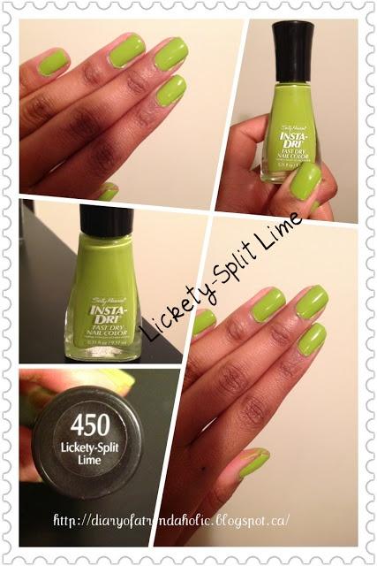 Sally Hansen`s Lickety Split Lime Nail Polish