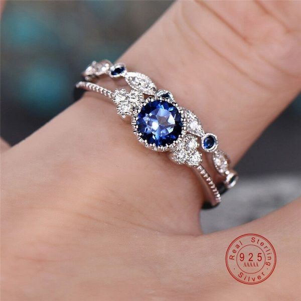 925 solid sterling silver rhodium plated natural 4x4 round shape moon stone semi gemstone ring