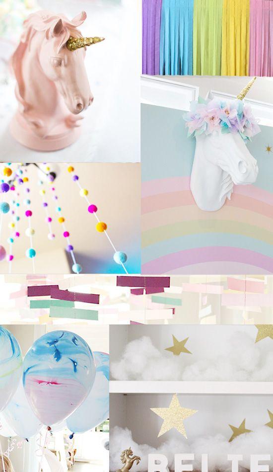 734 best images about kindergeburtstag on pinterest - Einhorn dekoration ...