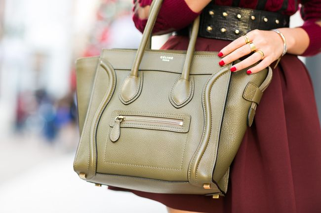 Celine Micro Luggage Tote in olive Happy Holidays :: Sheer ...