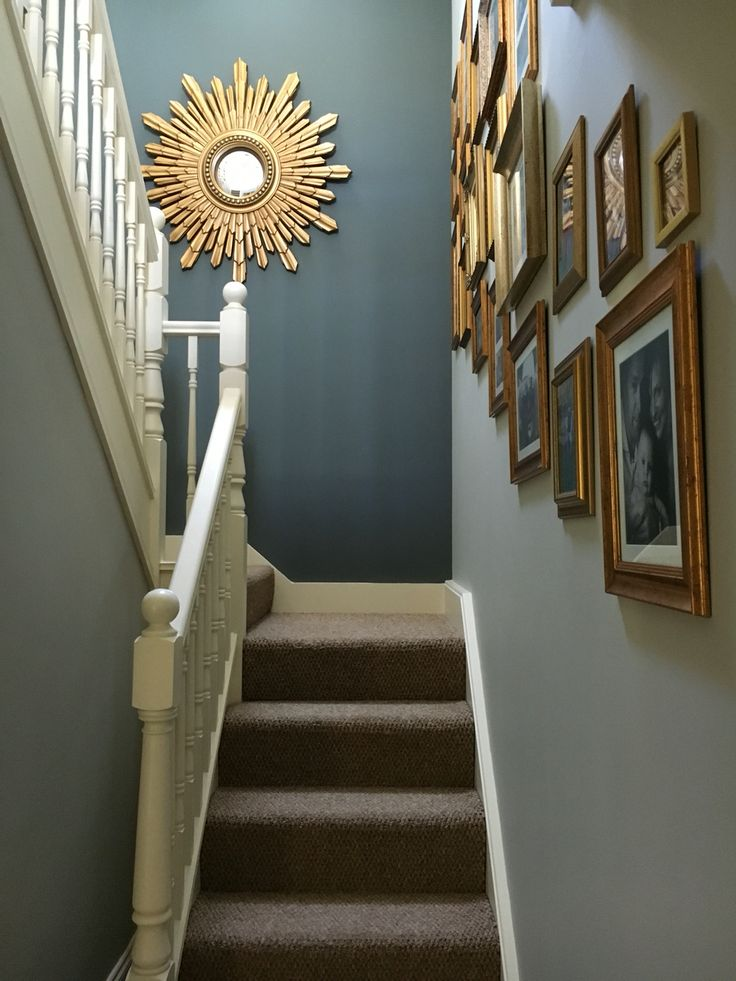 Hallway painted in farrow and ball pavilion grey and down pipe  Hallway in 2019  Pinterest
