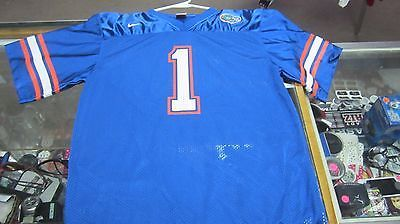Florida Gators Youth Football Jersey Size XL Blue Nike Polyester Screen Pressed