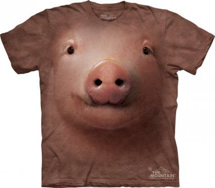 Pig Face - Koszulka ze świnią - The Mountain - www.veoveo.pl - koszulki ze zwierzętami