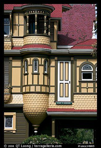 Door to nowhere. Winchester Mystery House, San Jose, California, USA
