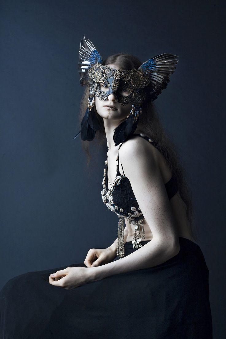 """Valkyrie"" — Photographer: Laura Sheridan's Art Mask: Hysteria Machine Bra: Von Eden Model: Aeons of Silence"