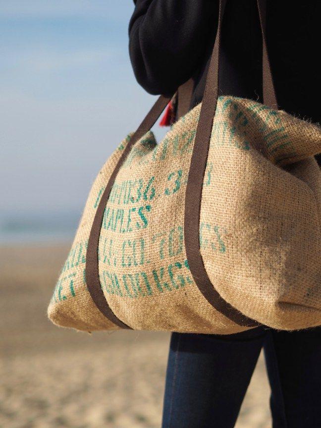13 façons d'utiliser la toile de jute en mode et en déco #toiledejute #sac #couture