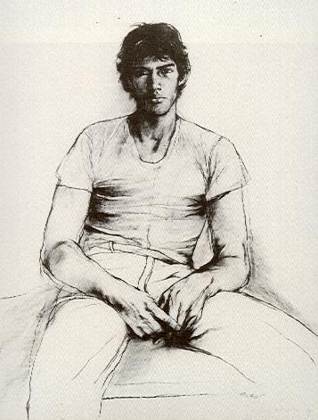 Luis Caballero - autoretrato - pintor Colombiano