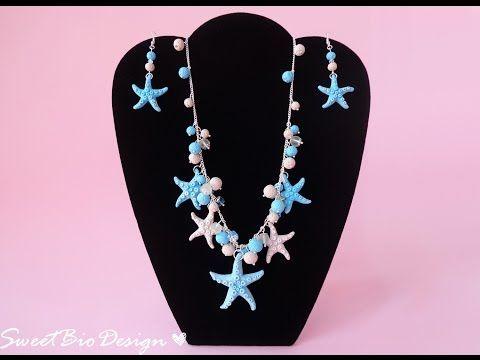 Montaggio parure Collana+orecchini stile marino - Marine style Set necklace+earrings - YouTube