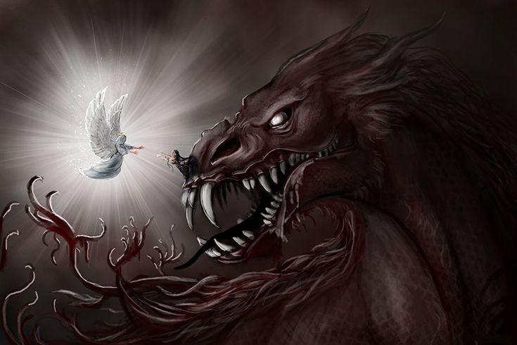 Fotos Dämonen Eckzahn Fantasy Engeln