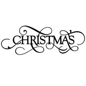Silhouette Design Store - View Design #111553: christmas word - christmas