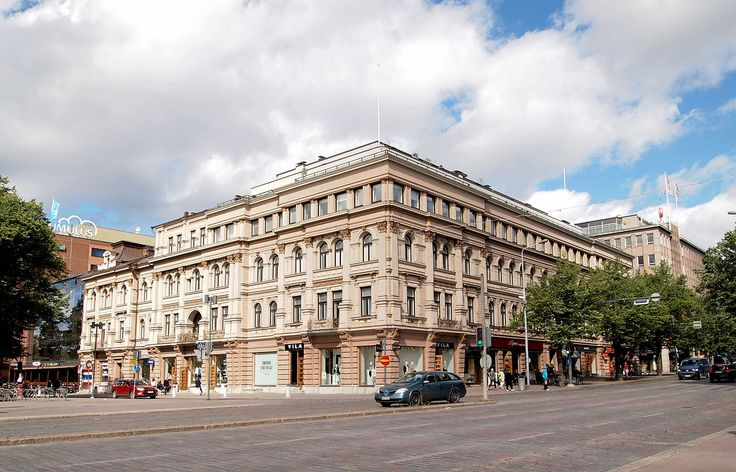 Building on the corner of the streets Hämeenkatu and Koskikatu in Tampere
