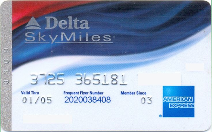 AmEx Delta Gold whiteblue (American Express, United States of America) Col:US-AE-0145