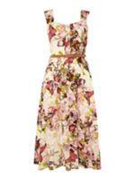 Izabel London Wide Strap Floral Belted Dress