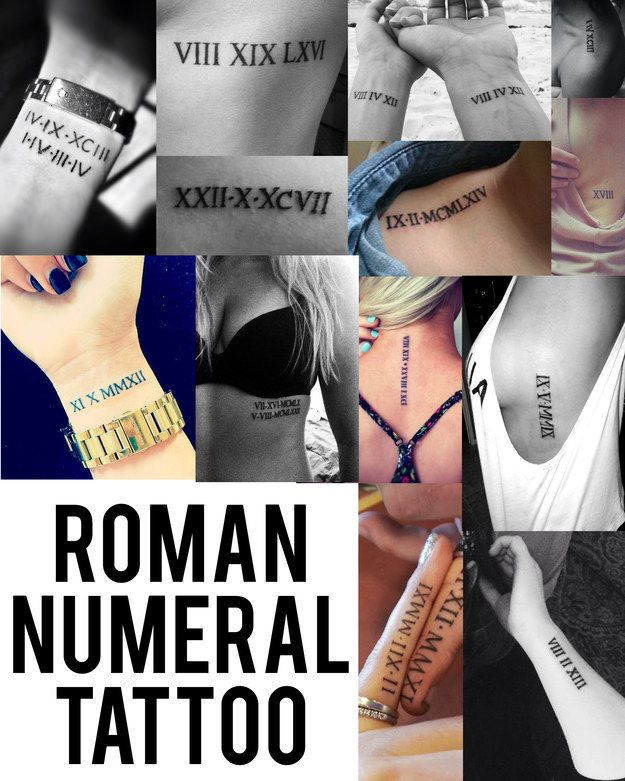 Roman Numerals   Community Post: Top Tattoo Trends Of 2014