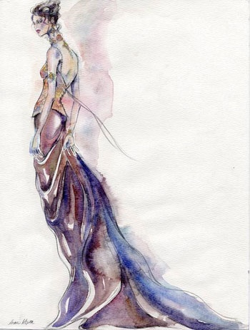 Art Illustration by Petra Dufkova fashion-illustration