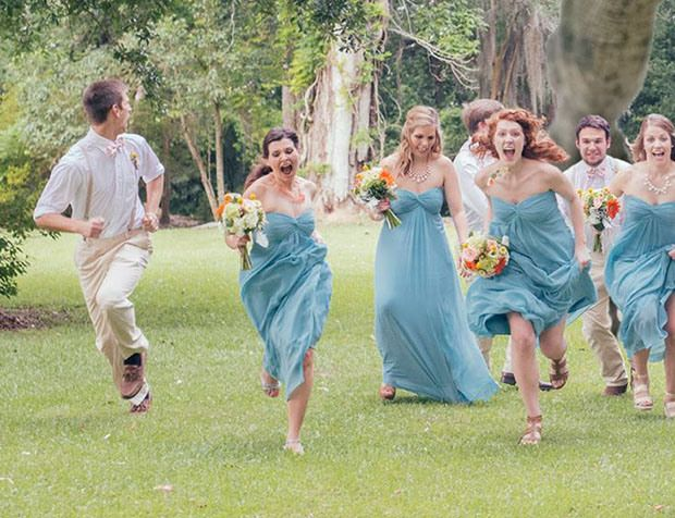 Wedding Photograph Features a Hungry T Rex Chasing the Bridal Party closeup11