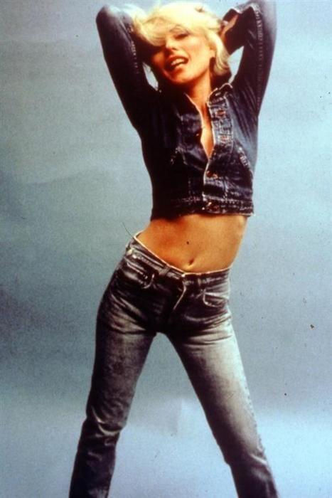 Debbie Harry in denim on denim.