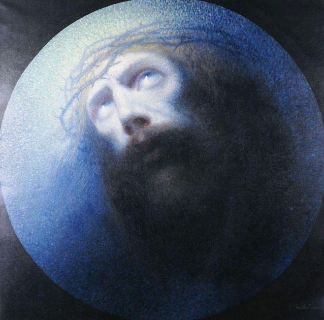 kaufen Gemälde'christus' von Konstantinos Parthenis - Kaufen Sie eine handgemalte Ölreproduktion , Kunstreproduktion, Ölgemäldereproduktionen, Kunst auf Leinwand, Kunstwerksreproduktion, Leinwand Ölgemälde Reproduktion Kunstwerk