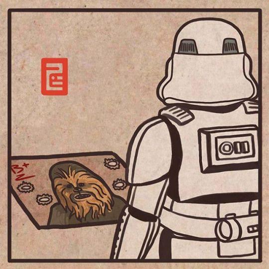 Uuuuuur Ahhhhrrrrr Aaaargh! 얘도 아니야  More at : https://instagram.com/7b.hyeon/ http://7b-hyeon.tumblr.com/ Find : #starwars #stormtrooper #스타워즈 #더포스어워드 #chewbacca #wookie #illustration #artwork #スターウォーズ #darthvader #lightsaber #イラスト #7bhyeon
