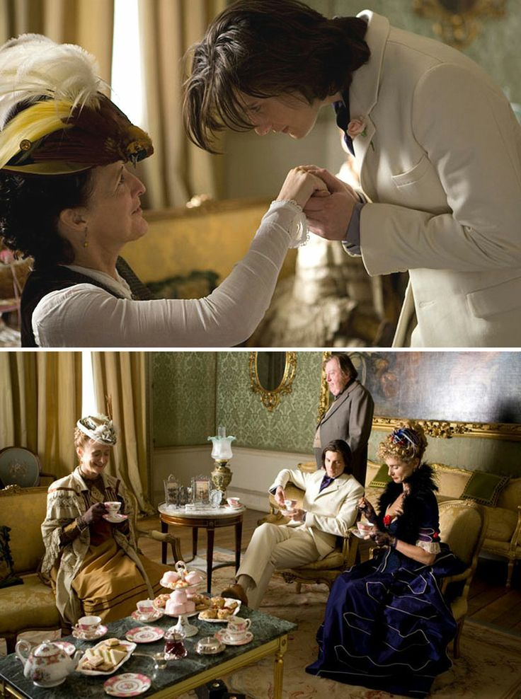 Dorian Gray (2009) Starring: Fiona Shaw as Aunt Agatha, Ben Barnes as Dorian Gray, Caroline Goodall as Lady Radley, Michael Culkin as Lord Radley and Maryam d'Abo as Gladys. (click thru for larger image)