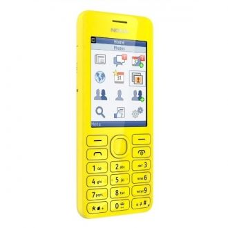 """Korzystanie z telefonu Nokia 206 to prawdziwa przyjemność dzięki dużemu, jasnemu ekranowi 2,4"""" oraz przyjemnym w dotyku klawiszom o dobrze dobranym rozstawieniu. Telefon wyróżnia się też świetnym wyglądem, łącząc w sobie czyste, eleganckie linie z zaskakującymi kolorami, takimi jak niebieskozielony, purpurowy czy żółty."""