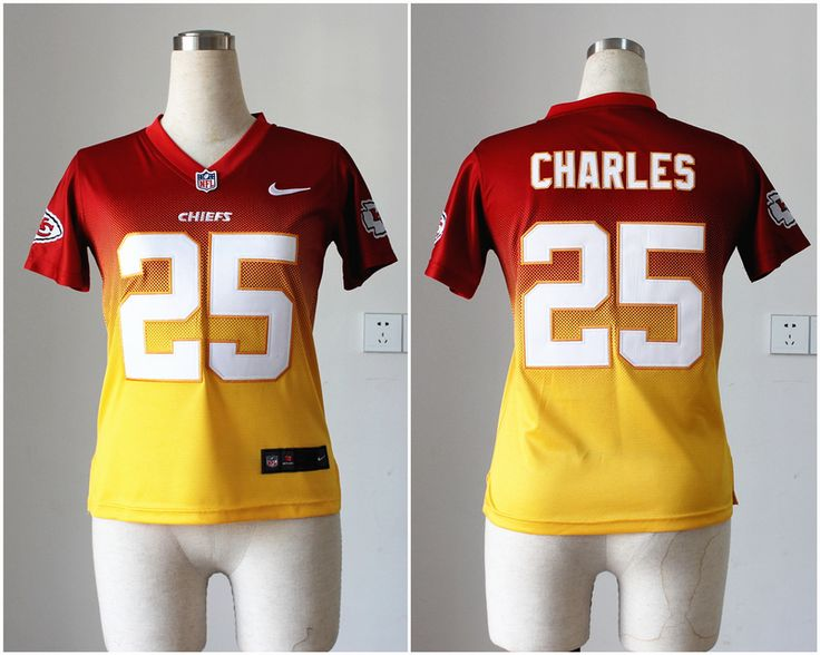 ... Jerseys Womens Nike NFL Kansas City Chiefs 25 Jamaal Charles Red Yellow  Drift Fashion II Elite ... 1b062e416