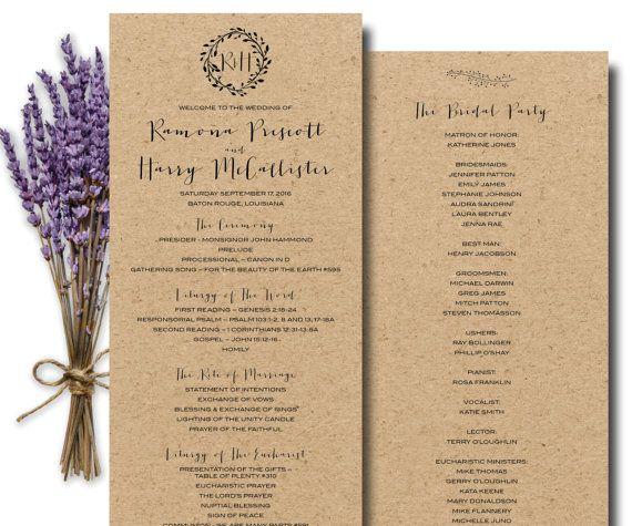 Catholic Wedding Ceremony Program: 17 Best Ideas About Catholic Wedding Programs On Pinterest