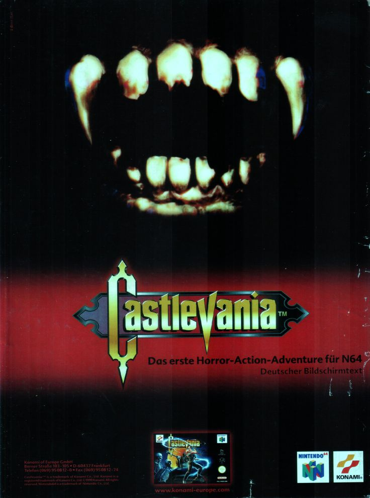 Castlevania(1999) • Scan from: ScreenFun_06_1999 • Platform: Nintendo 64 • Genre: Action-Adventure • Developer: Konami Computer Entertainment Kobe, Inc. • Publisher: Konami Corporation