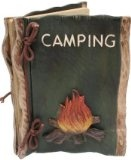 """Camping Photo Album with Campfire (Real Carved Wood) 8-inch - #camping #outdoors #campinggear #campingessentials #campingequipment -   Rustic carved of real wood notebook with """"camping"""" and campfire on cover. Holds 36 photos in plastic sleeves. Item"""