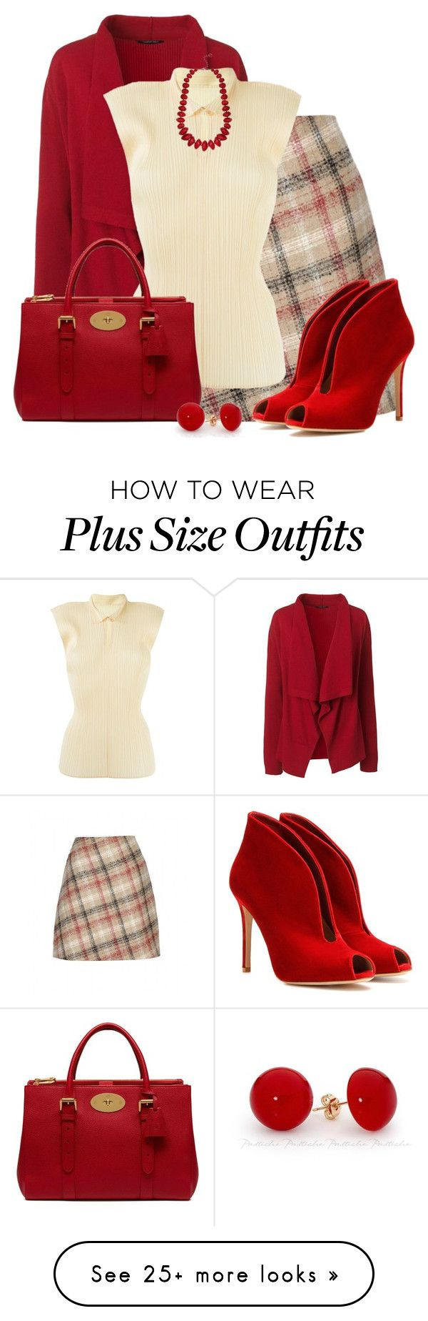 """Plaid for Fall."" by cris-1121 on Polyvore featuring Carven, Lands' End, Issey Miyake, Mulberry, Gianvito Rossi and M&Co"