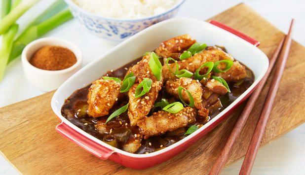 Denne oppskriften er hentet fra Kina, og vil virkelig gi deg følelsen av å stå i det kinesiske kjøkkenet. Her er torsk woket med gode smaker, og servert med ris.