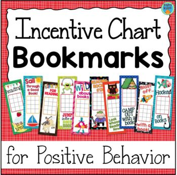 Reading Incentive Chart Bookmarks - 10 different designs. These are great for keeping track of books read, quizzes passed, and more!