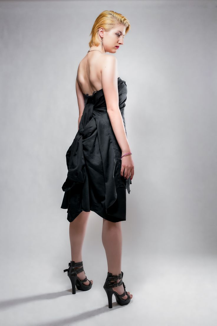 Dress made from two Men's shirts.