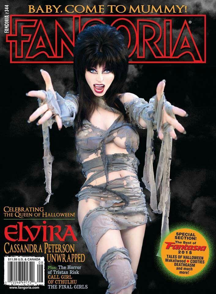 Elvira (Cassandra Peterson) on the cover of Fangoria