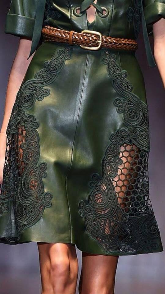 lether skirt