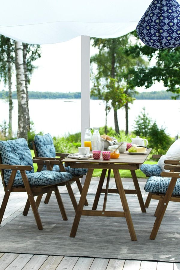There's never a bad time to start dreaming of warmer weather. Find IKEA basics for planning your comfy outdoor hangout – regardless of what the thermometer says.