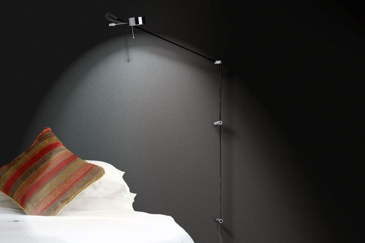 through the minimalist design the ABSOLUT LIGHTING WALL LIGHT lend themselves into every setting. this model is ideal as a bed lamp. the luminaire has an axial joint. Buy at https://www.radius-design.com/lamps/wallceilinglamps/walllight/ #light #lamp #design