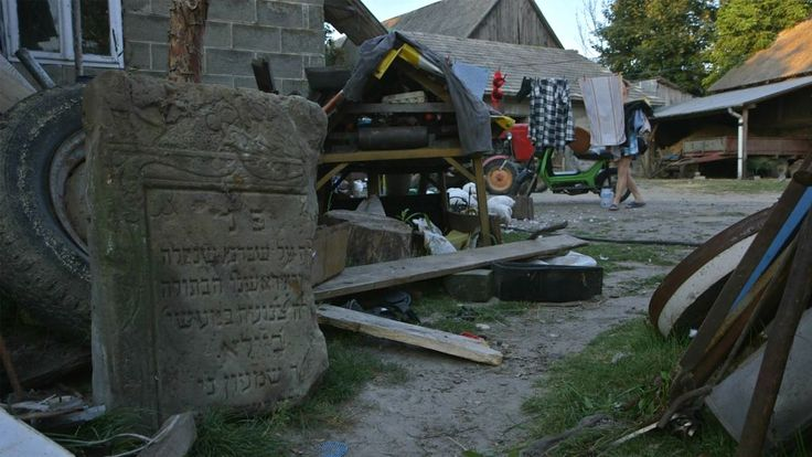 Poland is having a hard time dealing with the truth of collaboration with the Germans in the destruction of Jewish life during WW2. Jewish gravestone sits in Iwaniska, Poland resident's yard in 'Scandal in Ivansk' (Blumenfeld Pictures)