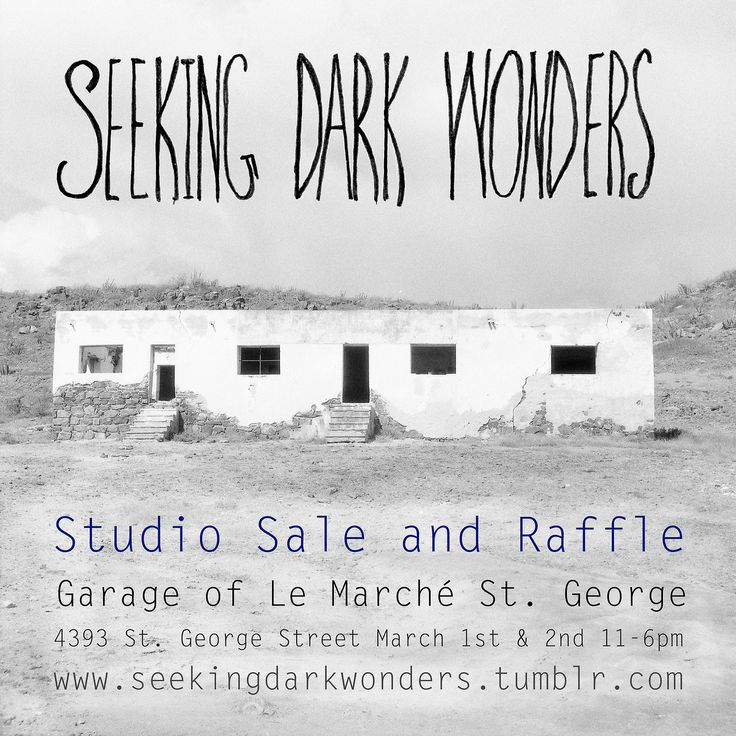 Marche St. George will be having a studio sale and raffle on March 1st and 2nd, 2014. Make sure you check it out!