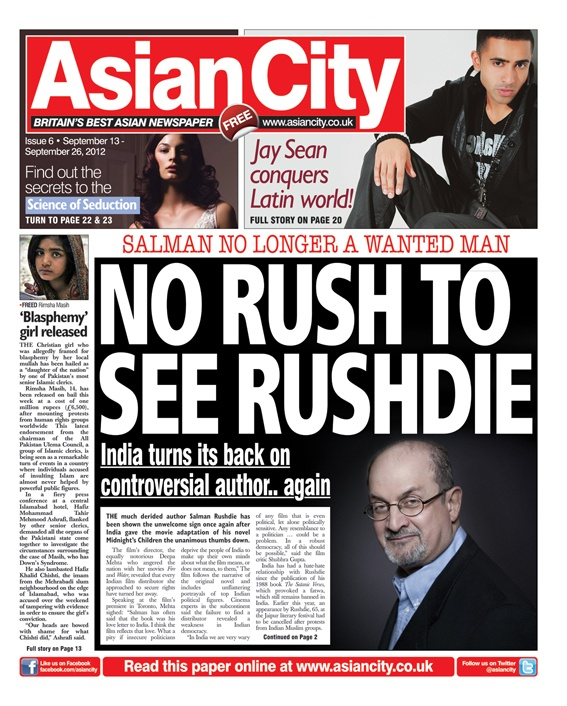 Asian City - Issue 6 #news #gossip #fashion #entertainment #music #sports #newspaper #tabloid #press #journalism #frontcover