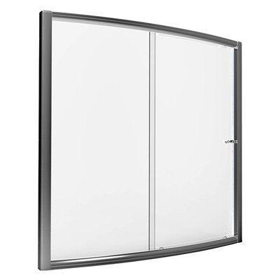American Standard AM00494.400.213 Saver 57-in to 59-in W x 57-1/2-in H Silver Sliding Shower Door