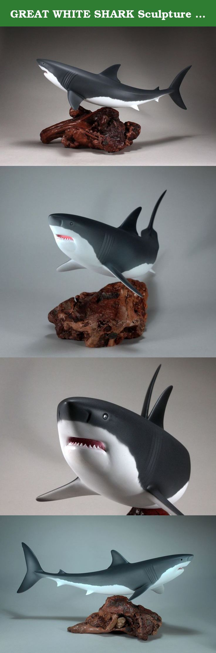 Great white shark sculpture direct from john perry statue