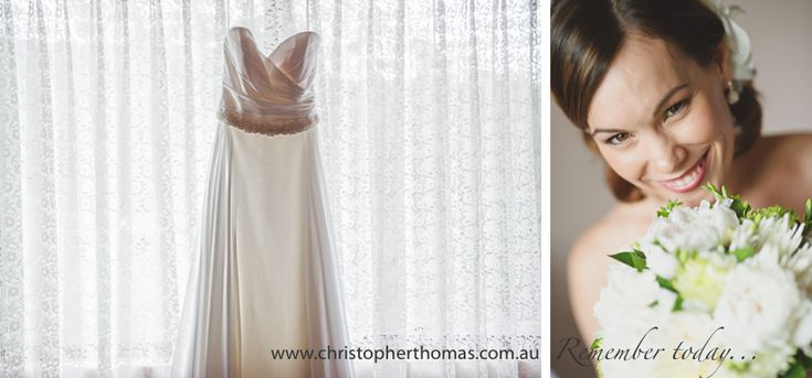 Wedding Dress, Wedding Flowers,   Brisbane Wedding Photographer Christopher Thomas Photography