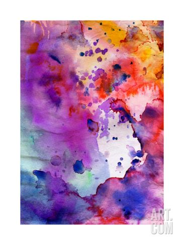 Abstract Grunge Texture With Paint Splatter Premium Giclee Print by run4it at Art.com