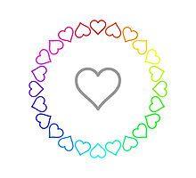 Rainbow Heart Ring by silverjade