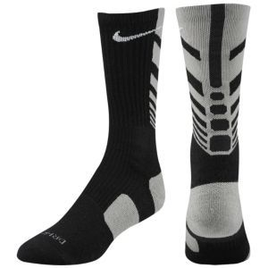 Nike Elite Sequalizer Crew Sock - Mens - Black/Sport Grey/White